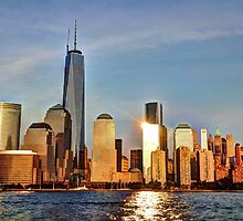 Sunset Glow over Lower Manhattan by Poete100