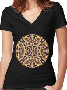 Autumn Mirrors Women's Fitted V-Neck T-Shirt