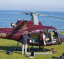 Helicopter field maintenance by Jon Lees