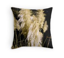 Poofy Plant In September Sun Throw Pillow
