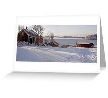 Winterboat Greeting Card