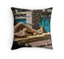 Secret Sunbather Throw Pillow