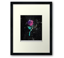 Stained Glass Rose Galaxy Framed Print