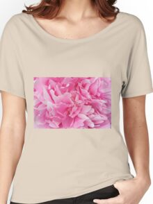 Pink Peony macro Women's Relaxed Fit T-Shirt