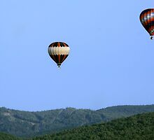 two hot air balloons by Jamie Roach