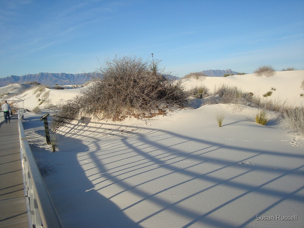 White Sands Boardwalk by Susan Russell