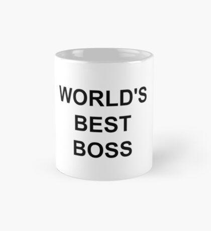 Michael Scott's World's Best Boss mug Mug