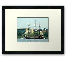 H.M.S.Bounty-Sailpast Framed Print