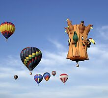 amazon rainforest tree hot air balloon by Jamie Roach