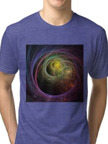 Space Fireworks Tri-blend T-Shirt