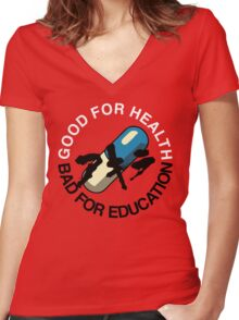 Good for Health Women's Fitted V-Neck T-Shirt