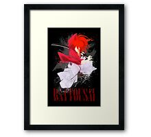 Samurai Splash Framed Print