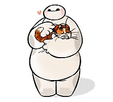love cat baymax Photographic Print