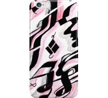 curved drawing iPhone Case/Skin