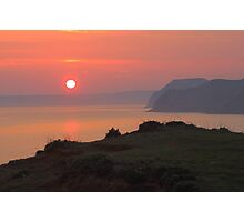 Sunset From Jurassic Coast Photographic Print