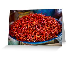 Spicy red hot chilies Greeting Card