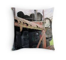 old logging truck Throw Pillow