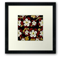Tudor Roses on Black Framed Print