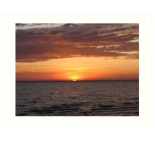 Beautiful Sunrise Over Lake Art Print