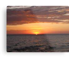 Beautiful Sunrise Over Lake Metal Print