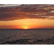 Beautiful Sunrise Over Lake Photographic Print