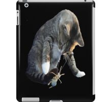White Pawed Tabby Cat Playing With Winged Insect iPad Case/Skin