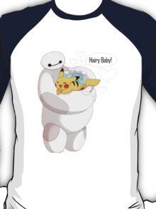 Baymax And Pokemon Hairy Baby T-Shirt