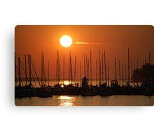 Sunset Over The Marina Canvas Print