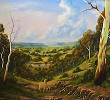 The Lost Sheep In The Scrub by John Cocoris
