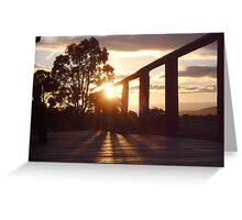 verandah sunlight Greeting Card