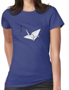 Paper Crane Color Womens Fitted T-Shirt