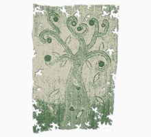 Tree of Life Fabric Art - Sketch Effect Kids Clothes
