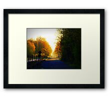 Quiet of the morning Framed Print