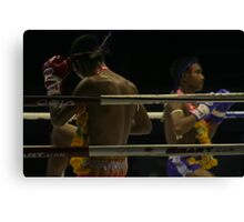before the first punch Canvas Print