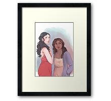 Morgana and Gwen Framed Print