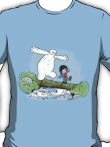 Baymax and Hiro Version Calvin And Hobbes T-Shirt