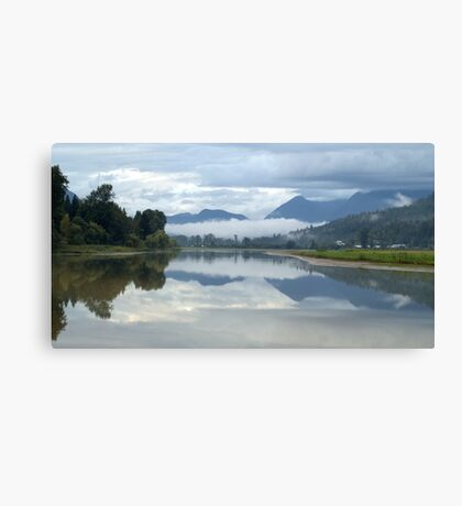 Clouds and Reflections Canvas Print