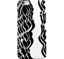 black and white ink drawing iPhone Case/Skin