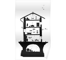 Architecture of italian home Poster
