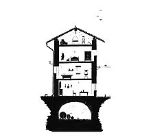 Architecture of italian home Photographic Print