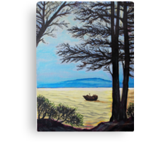 """Oil Painting - """"A View in San Francisco Bay Area"""", 2008 Canvas Print"""