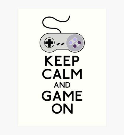 keep calm and game on Art Print