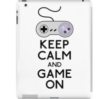 keep calm and game on iPad Case/Skin