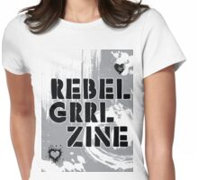 Rebel Grrl Zine Tee Womens Fitted T-Shirt