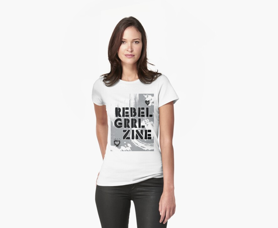 Rebel Grrl Zine Tee by incurablehippie