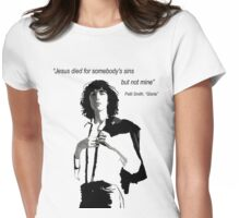 Patti Smith 1 Womens Fitted T-Shirt
