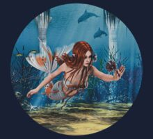 Mermaid holding Sea Lily Kids Clothes