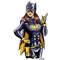 Hey there, Batgirl! Photographic Print