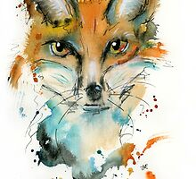 Wiley Mr Fox by PuddlePaints