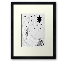 Playing with the stars Framed Print